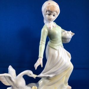 A lady on a pond collectible figurine - great gift